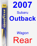 Rear Wiper Blade for 2007 Subaru Outback - Rear