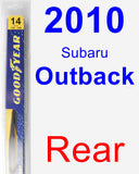Rear Wiper Blade for 2010 Subaru Outback - Rear