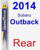 Rear Wiper Blade for 2014 Subaru Outback - Rear