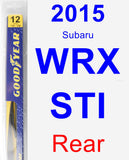 Rear Wiper Blade for 2015 Subaru WRX STI - Rear