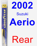 Rear Wiper Blade for 2002 Suzuki Aerio - Rear