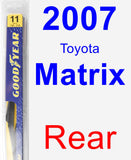 Rear Wiper Blade for 2007 Toyota Matrix - Rear