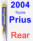 Rear Wiper Blade for 2004 Toyota Prius - Rear