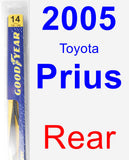 Rear Wiper Blade for 2005 Toyota Prius - Rear