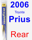 Rear Wiper Blade for 2006 Toyota Prius - Rear