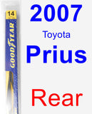 Rear Wiper Blade for 2007 Toyota Prius - Rear