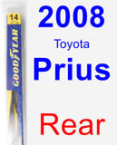 Rear Wiper Blade for 2008 Toyota Prius - Rear