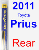 Rear Wiper Blade for 2011 Toyota Prius - Rear