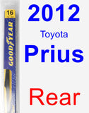 Rear Wiper Blade for 2012 Toyota Prius - Rear