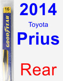 Rear Wiper Blade for 2014 Toyota Prius - Rear