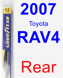 Rear Wiper Blade for 2007 Toyota RAV4 - Rear