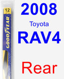 Rear Wiper Blade for 2008 Toyota RAV4 - Rear