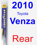 Rear Wiper Blade for 2010 Toyota Venza - Rear