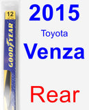 Rear Wiper Blade for 2015 Toyota Venza - Rear