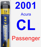 Passenger Wiper Blade for 2001 Acura CL - Assurance