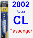 Passenger Wiper Blade for 2002 Acura CL - Assurance