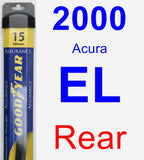 Rear Wiper Blade for 2000 Acura EL - Assurance