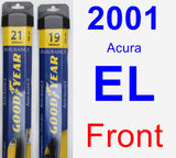 Front Wiper Blade Pack for 2001 Acura EL - Assurance