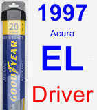 Driver Wiper Blade for 1997 Acura EL - Assurance