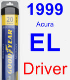 Driver Wiper Blade for 1999 Acura EL - Assurance