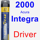 Driver Wiper Blade for 2000 Acura Integra - Assurance