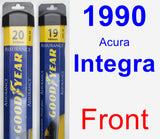 Front Wiper Blade Pack for 1990 Acura Integra - Assurance