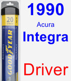 Driver Wiper Blade for 1990 Acura Integra - Assurance