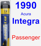 Passenger Wiper Blade for 1990 Acura Integra - Assurance