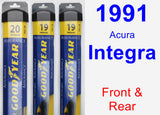 Front & Rear Wiper Blade Pack for 1991 Acura Integra - Assurance