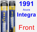 Front Wiper Blade Pack for 1991 Acura Integra - Assurance