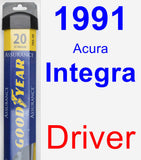 Driver Wiper Blade for 1991 Acura Integra - Assurance
