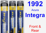 Front & Rear Wiper Blade Pack for 1992 Acura Integra - Assurance