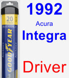 Driver Wiper Blade for 1992 Acura Integra - Assurance