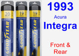 Front & Rear Wiper Blade Pack for 1993 Acura Integra - Assurance