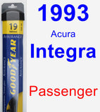 Passenger Wiper Blade for 1993 Acura Integra - Assurance