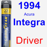 Driver Wiper Blade for 1994 Acura Integra - Assurance