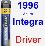 Driver Wiper Blade for 1996 Acura Integra - Assurance