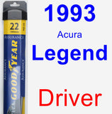 Driver Wiper Blade for 1993 Acura Legend - Assurance