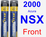 Front Wiper Blade Pack for 2000 Acura NSX - Assurance