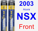 Front Wiper Blade Pack for 2003 Acura NSX - Assurance