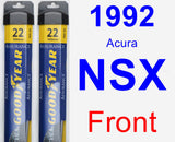 Front Wiper Blade Pack for 1992 Acura NSX - Assurance