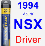 Driver Wiper Blade for 1994 Acura NSX - Assurance