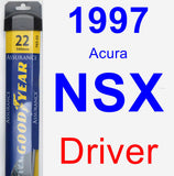 Driver Wiper Blade for 1997 Acura NSX - Assurance