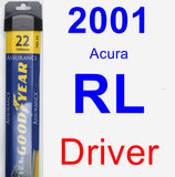 Driver Wiper Blade for 2001 Acura RL - Assurance