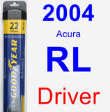 Driver Wiper Blade for 2004 Acura RL - Assurance