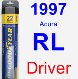Driver Wiper Blade for 1997 Acura RL - Assurance