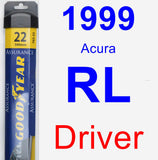 Driver Wiper Blade for 1999 Acura RL - Assurance
