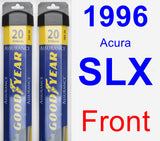 Front Wiper Blade Pack for 1996 Acura SLX - Assurance