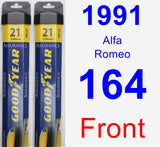 Front Wiper Blade Pack for 1991 Alfa Romeo 164 - Assurance