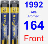 Front Wiper Blade Pack for 1992 Alfa Romeo 164 - Assurance